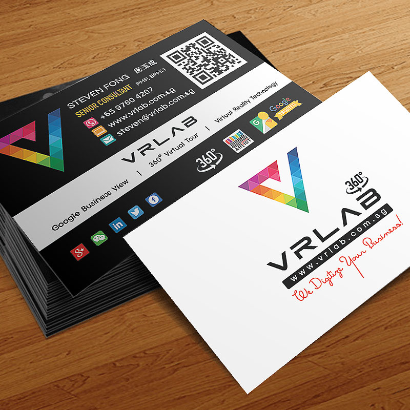 Vrlab corporate logo and business card design hoopstudio namecard design and print reheart Image collections