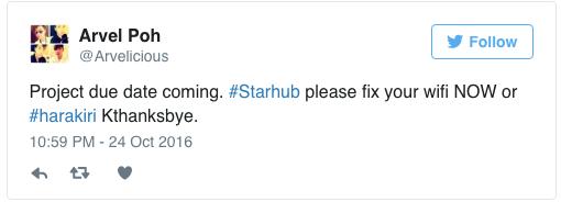 starhub broadband outage socialmedia