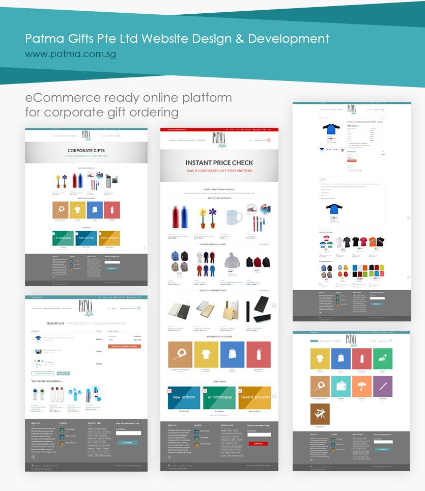 portfolio: Patma gifts pte ltd website design and development, ecommerce solution development