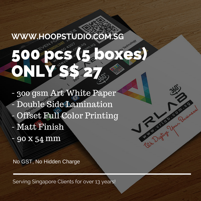 Namecard Design And Print Singapore Hoopstudio Technologies