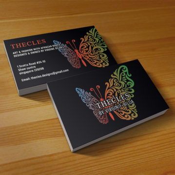 Business card design service showcase Oct 2018