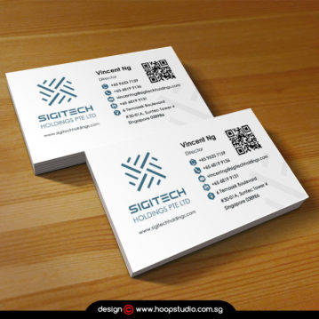 singapore business card design