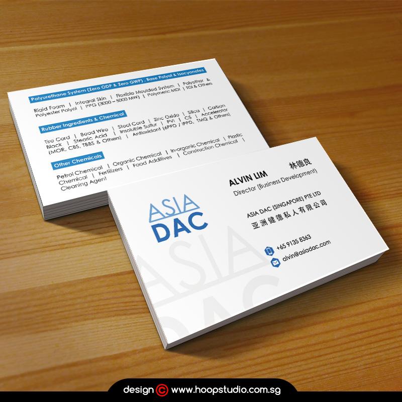 singapore business card design