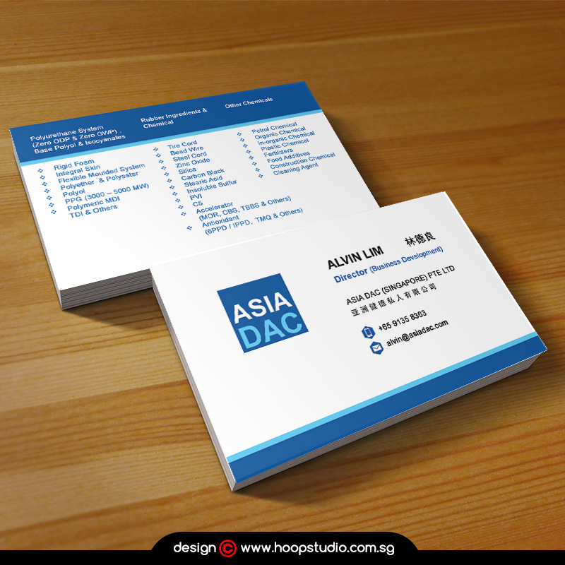 Singapore businesscard design and printing services