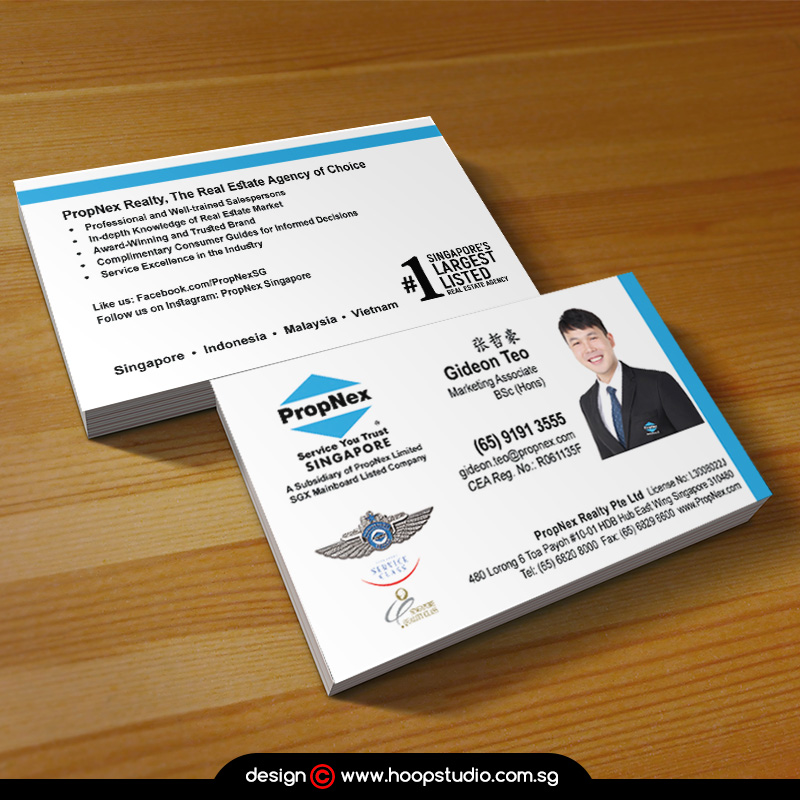 property agent name card design