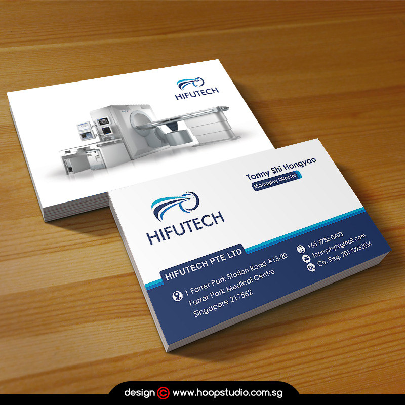 singapore local company name card design