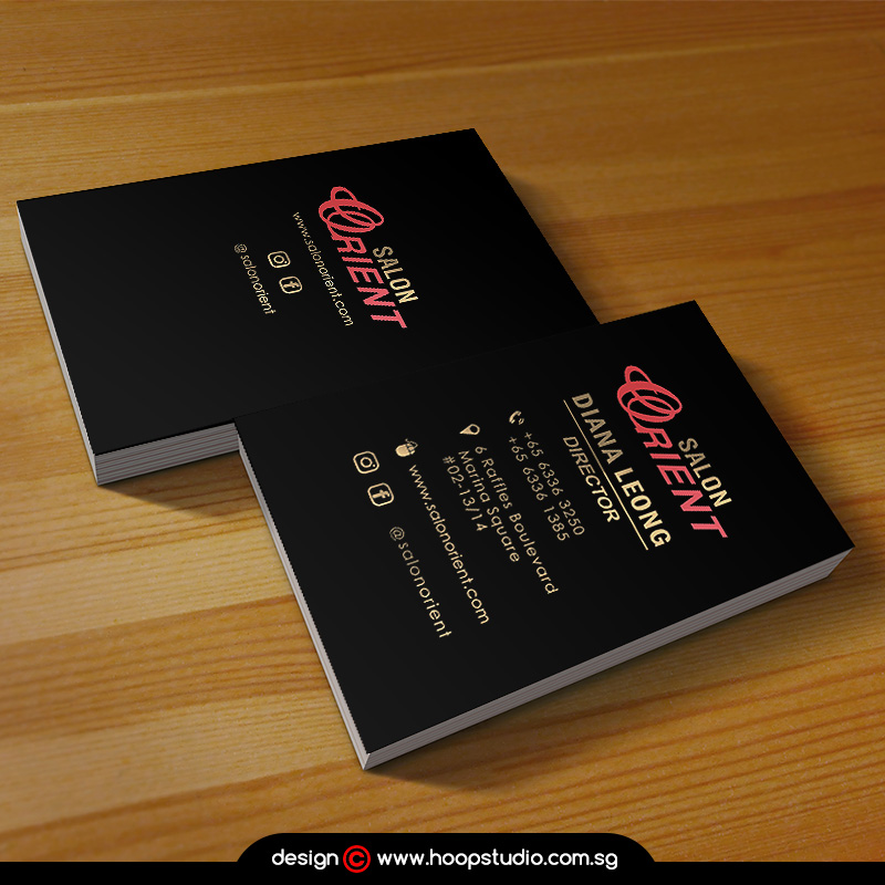 multiple color hotstamping name card design