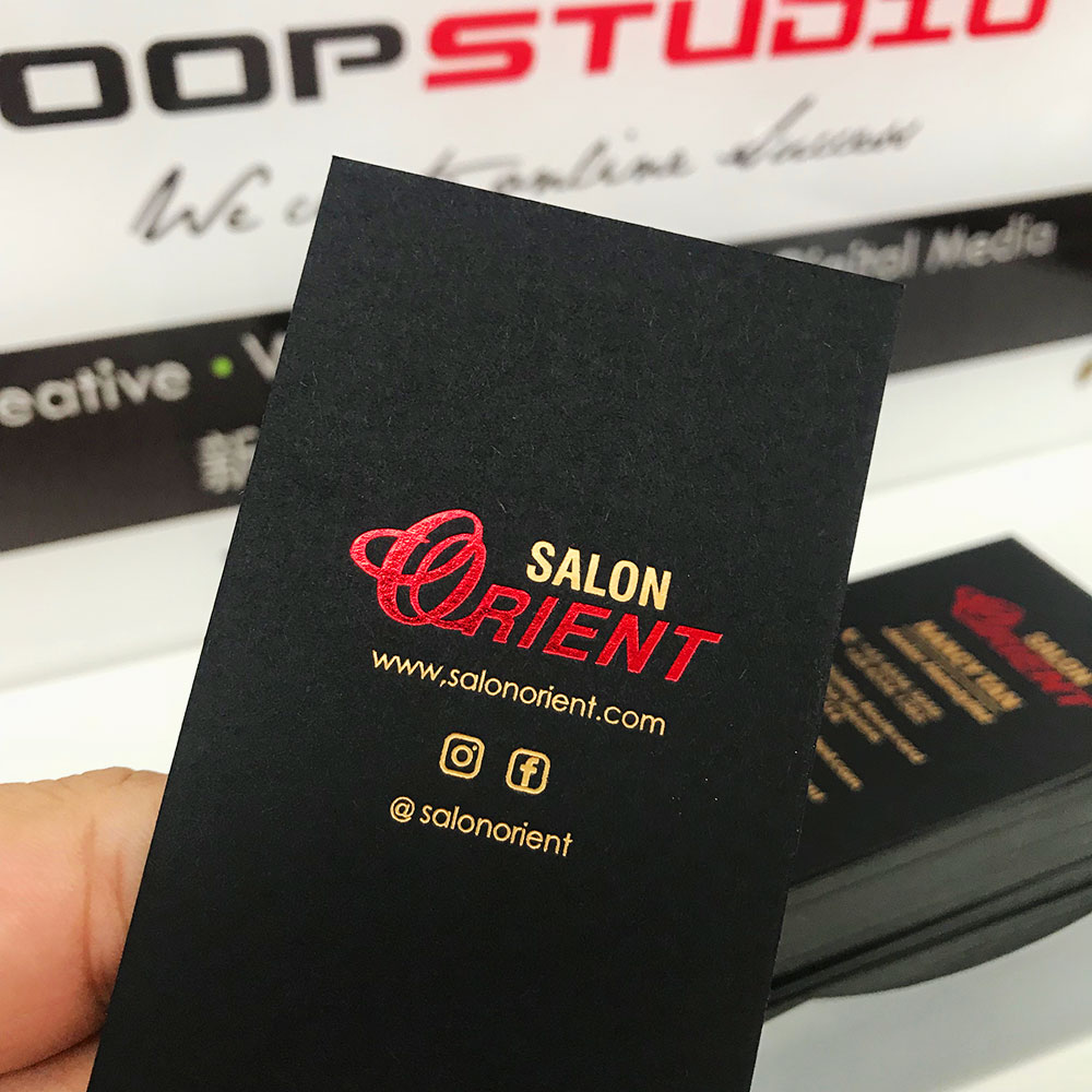 singapore hotstamping business card printing