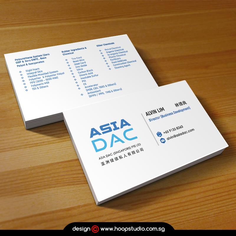 Singapore businesscard design
